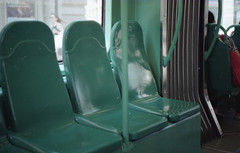 Empty (Alessandra Papagni) Tags: autobus bus milano italy italia italie milan teal turquoise ver acqua verdeacqua analog photography fotografia analogica indie hipster dreamy urban dream empty vuoto morning natural light 35mm 35 mm 50mm 50 film roll analogue argentique pellicule analogic color beautiful daily routine travel viaggio holiday vacanza canon ae1 ae 1 kodak plus colorplus 200 iso asa epson v370 street