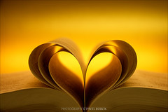 heart from the bible (pajus79) Tags: nikon d80 18703545 colour light shadow warm heart book bible sheet triple holy shine gold bokeh open love symbol theme fold best
