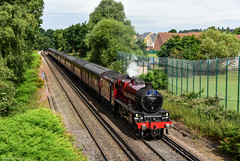 Surrey Jubilee (Articdriver) Tags: steam locomotive lms stanier jubilee 45699 galatea surrey railways train track virginiawater summer westcoast
