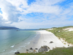 Faraid Head, Balnakeil Bay, Durness, North West Sutherland, July 2016 (allanmaciver) Tags: faraid head balnakeil bay beach durness north west sutherland coast sea water sand empty weather improving allanmaciver colour viewpoint stretch quiet peace remote