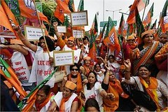 Lucknow: BJP women wing activists clash with police during a protest regarding BSP's remarks on expelled BJP leader Dayashankar Singh's family members (legend_news) Tags: lucknow bjp women wing activists clash with police during protest regarding bsps remarks expelled leader dayashankar singhs family members