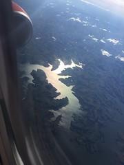 see the river below us