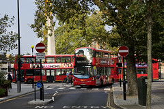 London General WHV81 BD65EVN Route 155 Lambeth Road (TfLbuses) Tags: tfl public transport for london red double decker hybrid buses wrightbus gemini volvo b5lh go ahead general