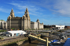 Liverpool Pier Head (David Chennell - DavidC.Photography) Tags: merseyside liverpool uk pierhead cityscape city rivermersey liverbird liverbuilding 3graces cruiseterminal titanicmemorial