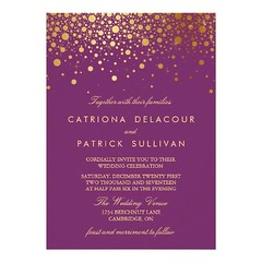 (Faux Gold Foil Confetti Purple Wedding Invitation) #Confetti, #Elegant, #Fancy, #Formal, #Glam, #Glitter, #Gold, #GoldFoil, #Lights, #Modern, #Purple, #Shimmer, #Shine, #Sophisticated, #Sparkle, #Stylish, #Trendy, #Typography, #Wedding, #Whimsical, #Wint (CustomWeddingInvitations) Tags: faux gold foil confetti purple wedding invitation elegant fancy formal glam glitter goldfoil lights modern shimmer shine sophisticated sparkle stylish trendy typography whimsical winterwedding is available custom unique invitations store httpcustomweddinginvitationsringscakegownsanniversaryreceptionflowersgiftdressesshoesclothingaccessoriesinvitationsbinauralbeatsbrainwaveentrainmentcomfauxgoldfoilconfettipurpleweddinginvitation weddinginvitation weddinginvitations