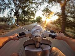 (umberto.ruvolo) Tags: caltanissetta fisheye grandangolo colore luce street paesaggi sicilia verde grigia tramonto movimento panorama hero3 gopro vespa