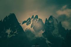 Green Paradise (Frdric Fossard) Tags: monochrome vert art paysage montagne nature aiguillesdechamonix massifdechamonix nuage brume glacier atmosphre ambiance surraliste calme alpes hautesavoie france grandscharmoz blaitire aiguilleduplan