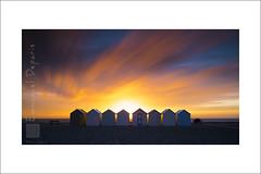 sunset radiation (Emmanuel DEPARIS) Tags: emmanuel deparis nikon d810 haut de france cayeux sur mer baie somme coucher soleil picardie cote dopale chalet cabine plage sable galet ciel