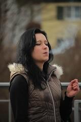 Enjoy (if you insist) Tags: cigarette eurosmoke smoking smoker candid exhale female tobacco nicotine addict pleasure