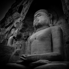 Gwalior Jain Carving Square mono (--Welby--) Tags: gwalior jain carving cliff