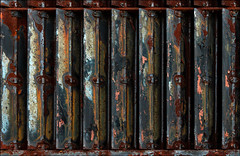 Corrosion Ventilated (Junkstock) Tags: abstract abstraction aged artifact color closeup corrosion corroded decay distressed decayed industrial industry old oldstuff photo photograph photography photographs photos paint peelingpaint relic rust rusty rustyandcrusty rusted steel textures texture weathered wisconsin greenbay