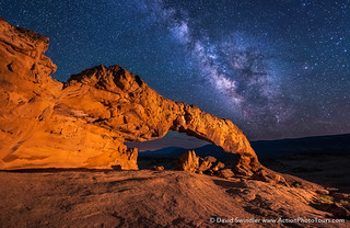 Sunset Arch Milky Way