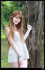 nEO_IMG_DP1U3715 (c0466art) Tags: school light portrait girl beautiful face canon hair golden eyes long pretty legs outdoor good gorgeous figure half attractive tall charming activity hight 1dx bloode c0466art kimberly陳怡伶