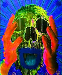 Urban Art Biennale at Völklinger Hütte Germany (Marco Braun) Tags: street urban color art germany deutschland skull grafitti colourful psychedelic coloured sureal allemagne farbig bunt mucho bienalle screem schrei 2015 schädel tasso psychedelique psyschedlisch