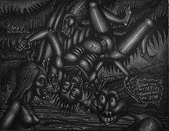 Camp Winamucka (Tom McKee / Art Guy) Tags: art pencil ink dark drawing surrealism surreal surrealist narrative lowbrow visionary prisma visionaryart apocalypic narrativeart artvisionary