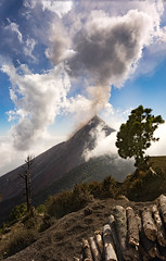 Daytime Eruption of Volcan de Fuego (departing(YYZ)) Tags: travel nature zeiss landscape volcano guatemala sony eruption centralamerica volcanacatenango