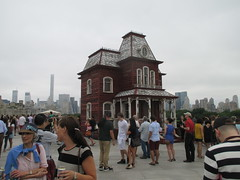 Rooftop Hopper - Psycho Style 2472 (Brechtbug) Tags: from park new wood york city nyc railroad family roof house art film halloween by skyline museum barn work garden painting season artist outdoor top object central inspired charles exhibit an spooky replica edward covered psycho horror british alfred mansion bates comes chas which hopper metropolitan parker named 1925 actual cornelia addams 1960 reclaimed spook 2016 hitchcocks transitional psychobarn 07092016