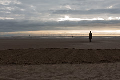 Another Place Sand Man (MattLawrence) Tags: anotherplace anthonygormley landart sculpture b1ackprojects sandart aerial drone