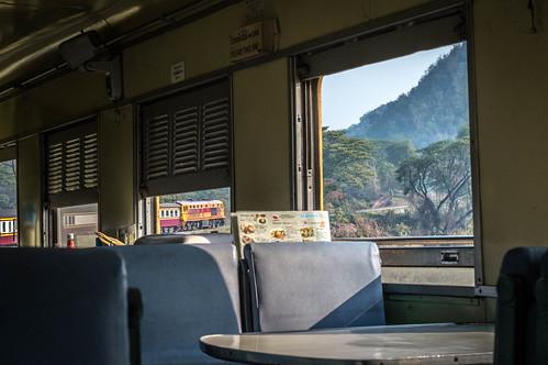 Dining Cart - Bangkok To Chiang Mai Railway, Thailand.