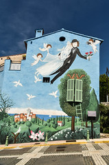 Hommage to Marriage (marionchantal) Tags: france june wall painting mural cotedazur village painted gardenofeden marriage lovers filter hommage mur fresco newlyweds cpl amoureux fresque peynet alpesmaritimes 2016 lecannet ruesaintsauveur 180300mm nikond7200 murdesamoureux