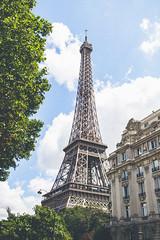 Eiffel Tower (George Allard Photography) Tags: eiffel tower paris summer travel sky sun clouds blue france