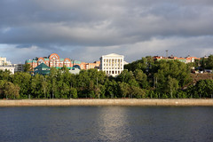 Perm 07 (mpetr1960) Tags: city sky building green clouds river cityscape russia perm cityview