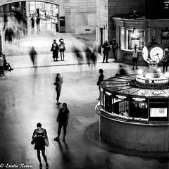 Grand Central Terminal-7 (estellerobertnyc) Tags: grandcentralterminal manhattan nyc newyork usa blackandwhite noiretblanc