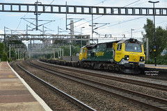 4M67 70010 Felixstowe - Crewe Basford Hall (Adam McMillan Railway Photography) Tags: 70010 works thefreshairexpress seen passing rugeley trent valley working 4m67 felixstowe docks crewe basford hall power station can be background