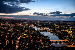 OVERVIEW FROM THE SHARD (ZAC DES) Tags: life street city sunset summer sky black building london eye up thames architecture night buildings river dark high outdoor busy views april shard bustling lgihts