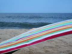 Blowin' in the Wind (karma (Karen)) Tags: middlesex delaware beaches oceans waves towels stripes 4summer cmwd