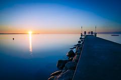 Stein Sunset (Jenner Ka) Tags: longexposure sunset sonnenuntergang nd stein kiel langzeitbelichtung kielerfrde