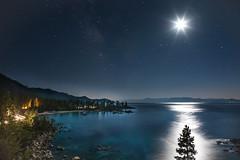 Moonlit Tree on Lake Tahoe (tonyfuentesphoto) Tags: longexposure tahoe