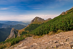 The saddle (Paulina_77) Tags: clouds tatra mountains poland nature landscape scene scenery polska national park reservation wilderness wild summmer rock stone rocks stones rocky tatry top summit peak mount mountaineering hiking hike picturesque exposure high world travel travelling traveling europe view perspective hills highland sunlight sunlit sun sunny daylight light shadow shade outdoor nikkor18105mm nikkor 18105mm 18105 18105mmf3556 nikond90 nikon d90 pola77 holidays beauty walking walk green mountain mountainous hilly hillside hdr blue layers trail serene sky mountainscape atmospheric