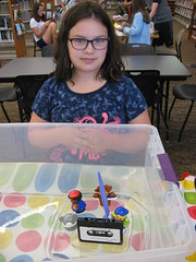 Building boats to float at the Grabill branch.  Kids tested their engineering and nautical skills in this fun, hands-on program. (ACPL) Tags: fortwaynein acpl allencountypubliclibrary grabill grb chi children kids srp summerreadingprogram 2016
