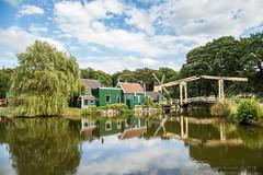 Typical Dutch (Myron van Ruijven) Tags: openluchtmuseum arnhem zaanse huisjes typisch typical dutch holland netherlands nederlands nl hollands open air museum bridge water huizen groen treurwilg