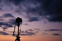 Shooting... (maglaras) Tags: fujiflm xt10 olympus e3 sunset summer colors sky tripod