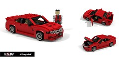 HSV Coupe4 (2004) (lego911) Tags: hsv holden special vehicles coupe 4 coupe4 v8 ls1 2004 auto car moc model miniland lego lego911 ldd render cad povray 4wd awd australia aussie lugnuts challenge 106 exclusiveedition exclusive limited edition sport luxury 2000s