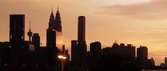Silhouette of KL (emirmehmetyavuz) Tags: iphone5s malaysia sunset silhouette shadow kltower menarakl klcc petronas twintowers kl