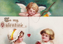 ELLEN CLAPSADDLE CUPID ANGELS PASSION CUTE VALENTINE KIDS A book that tells of Lovers TRUE - LOVE IS IN THE AIR International Art Card Series No 4657- (UpNorth Memories - Donald (Don) Harrison) Tags: vintage antique postcard rppc don harrison upnorth memories upnorth memories upnorthmemories michigan history heritage travel tourism michigan roadside restaurants cafes motels hotels tourist stops travel trailer parks campgrounds cottages cabins roadside entertainment natural wonders attractions usa puremichigan