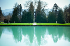 ^^^^ (ian.latte) Tags: schloss hellbrunn salzburg austria pond lake water reflection green tree aquamarine outdoor garden 50mm leicam leica