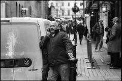 Villiers Street (jonron239) Tags: man london phone talking fleece geezer