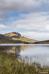 The Storr from Loch Fada (Rory Marland) Tags: light wild skye water clouds composition canon landscape outdoors island scotland rocks isleofskye hiking may cliffs loch f8 fada 6d oldmanofstorr storr 2470mm lochfada rorymarland