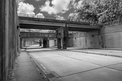 _DSC1884.jpg (cmayart88) Tags: road bridge blackandwhite zeiss underpass concrete downtown general pavement availablelight empty cement atlantaga northave carlzeiss zf2 distagon2528zf distagont2825 zeissdistagont2825zf2