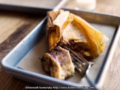 Black Bean & Mushroom Tamale (Bitter-Sweet-) Tags: summer food vegetables dinner lunch mushrooms restaurant vegan beans healthy corn connecticut mexican meal inside westport husk savory eatingout innards tamale bartaco