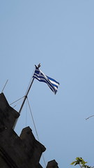 Greece 2015 (TellerMarie) Tags: camera summer vacation june walking travels break shot walk flag exploring picture pic tourist pole greece flagpole picturesque pictureoftheday rodos rhodes greekflag summerholiday picoftheday 2015 minibreak greeceflag fujifilmfinepix camerashot greekhistory rhodesgreece fujifilmcamera rodosgreece greecehistory june2015 fujifilmfinepixs3400 summer2015 greece2015 summerholiday2015