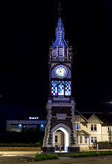 Glowing WIthin (Jocey K) Tags: newzealand christchurch clock architecture buildings clocktower victoriast eveing