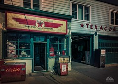 Enniskillen Texaco (Richard Adams Photography) Tags: station texaco gas service pump shop 50s