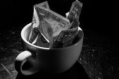 MMMMmmmm (SteveNakatani) Tags: morning blackandwhite money coffee capital culture cash management change ritual saving capitalism currency consumer commodity