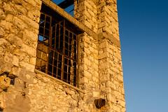 Drapetsona-Greece, abandoned fertilizer factory (Magganaris Manolis) Tags: texture orange blue nikon d7100 drapetsonagreece abandoned fertilizer factory window sky wall sunset nikkor 1685