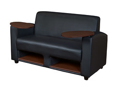 7702JVBK_1 (RegencyOfficeFurniture) Tags: black nova leather mobile java cafe lounge bookshelf sofa reception loveseat cupholder supernova rolling regency movable leatherchair reversible casters 7702 tabletarm lowstorage regencyofficefurniture regencyseating